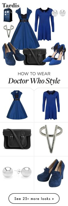 """Tardis"" by wonderlandofgeeks on Polyvore featuring moda, WearAll, The Cambridge Satchel Company, The 2 Bandits, doctorwho i tardis"