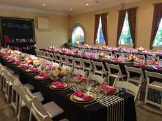 Kate Spade themed bridal shower at Windmill Ridge Winery Winery Bridal Showers, 60th Birthday, Windmill, Sweet 16, Graduation, Table Settings, Kate Spade, Table Decorations, Sweet Sixteen