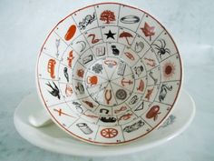 Fortune Telling Tea Cup and Saucer