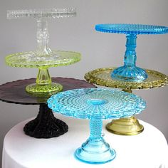 victorian yellow vaseline glass cake stand pressed diamond pattern central 1885 eapg