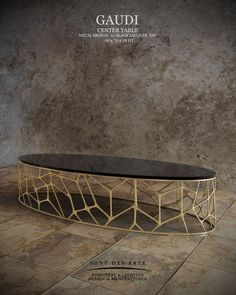 Gaudi Center table - Pont des Arts Studio - Designer Monzer Hammoud - Paris-: