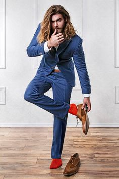 Brock O'Hurn · August 25 ·   Hmm... I think I can get used to a wearing a suit 😏  What's your favorite color?! I may have to get another.