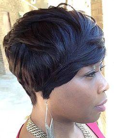short pixie bob for black women