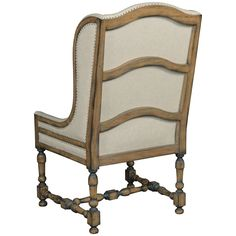 Hooker Furniture DaValle Linen Arm Dining Chair in Chateau