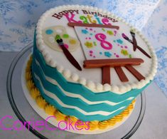 Paint Themed Birthday Cakes | paint/art themed birthday cake