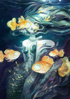 Mermay 2021 Art Feature! by Acaciathorn on DeviantArt Mermaid Artwork, Deviantart, Painting, Painting Art, Paintings, Painted Canvas, Drawings