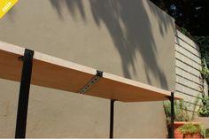 Solid wood & steel coffee table by JVS Designs