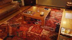 #interieur met rood #tapijt van #tapijtendemuynck