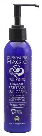 Peppermint Hair Conditioner & Style Cr�me by Dr. Bronner's