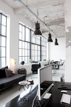factory work loft | join and get minimalist goods delivered to you quarterly @ minimalism.co #minimal #workspace #design