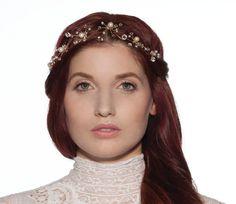 Crystal Headband Wedding Hair Accessory Pearl and by AnnLeslie