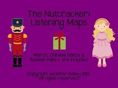 Introduce your students to this Holiday Classic through guided listening maps.  This pack includes the March, the Chinese Dance and the Russian Dance (Trepak).  Your students will love listening and  following along to these maps while learning about form, instruments, and new terms like bridge and coda!