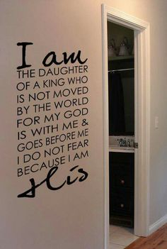 Perfect proclamation for a young girl (any female really) to read daily.