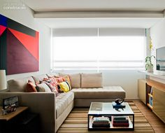 Ambientes integrados definem apartamento de 70m² - Casa