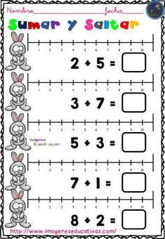 TRABAJAMOS LAS SUMAS EN LA RECTA NUMÉRICA -Orientacion Andujar Kindergarten Math Worksheets, Preschool Learning Activities, Math Subtraction, Math Strategies, Second Grade Math, Learning Time, Pre Writing, Math For Kids, Teaching Tools