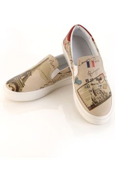 Elite Goby Paris Postcard Slip On Shoes in Multicolor - Beyond the Rack