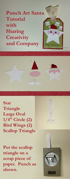 punch Art Santa Tag Tutorial  Stampin' Up!