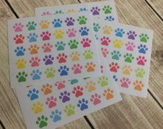 Paw Print Stickers! Set of 30, for your Erin Condren Life Planner, Plum Planner,  Filoflax, calendar or scrapbook!