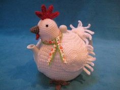 Chicken teacosy tea cozy animal crochet pattern pdf