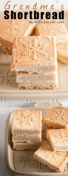 A Scottish creation, Shortbread is a dessert we can all adopt as our own. These easy shortbread cookies are something my grandmother used to always make during the Christmas holiday and that's a tradition that I have continued with my own kids. Scottish shortbread cookies are really almost half biscuit half cookie...they have a biscotti like quality and go great with coffee or tea. They're the perfect crumbly combination of slow-baked flour, butter, and sugar. And you don't want to m