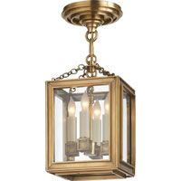 Visual Comfort E.F. Chapman Lund 4 Light Pendant in Antique-Burnished Brass CHC2251AB