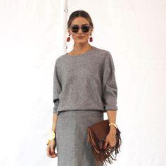 Fashion Week Diary | Day 1: Top, skirt and handbag by Carolina Herrera, Aquazzara heels, Westward Leaning sunglasses and  vintage earrings. #NYFW
