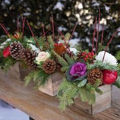 I'm sitting at the computer going through our centrepiece preorders and it looks like this one is the favourite so far! Fresh flowering cabbages, long lasting mums, berries, cones, apples and fresh greens for $45. We designed these arrangements to be long lasting, so that customers can enjoy them this week and for Christmas as well. We called it the 'Melanie', but now I feel ridiculous about naming one of our arrangements after myself. It was the end of the day and creativity was running a…