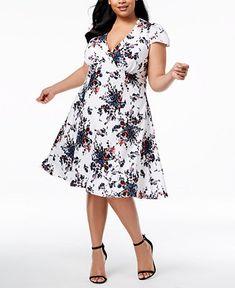 a3bb2817372 Betsey Johnson Plus Size V-Neck Floral Dress - Dresses - Women - Macy s