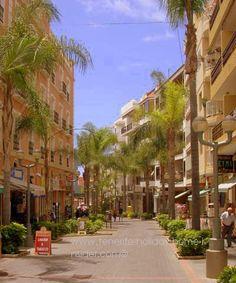 Stunning Calle La Hoya part of pedestrian zone hub of Puerto de la Cruz Tenerife North.