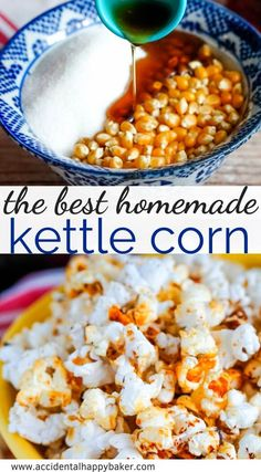 You'll love this easy to make nostalgic treat. Popcorn is cooked in a sugar and maple syrup mixture before being seasoned with salt for a classic sweet and salty popcorn snack. You'll love this easy. Appetizer Recipes, Snack Recipes, Cooking Recipes, Appetizers, Kid Cooking, Skillet Recipes, Oven Recipes, Cooking Tools, Sweets