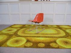 yellow rya rug