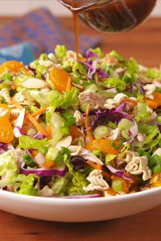 We're not sure how authentic this salad is, but it sure is delicious.