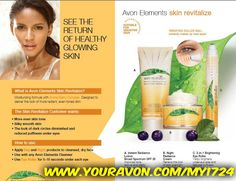 Avon Elements skin care has a variety of items that hydrate, revitalize and restore the healthy qualities of your skin. It also helps reduce stress, relieve pain, and improve overall well-being. Shop Avon Elements online at www.youravon.com/my1724 Take a look at the chart to help you guide you to best result in your skin care regimens.. #AVON #ANEW #ELEMENTS #SKINCARE #SALE