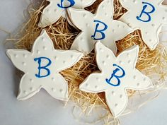 Starfish Cookies for Weddings and Parties Rolling Pin Productions
