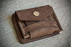 Купить Кошелек Купюрник Универсальный(со съемной монетницей) - однотонный, темно-коричневый, коричневый, купюрник