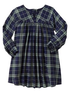 DONE Plaid baby doll dress Product Image