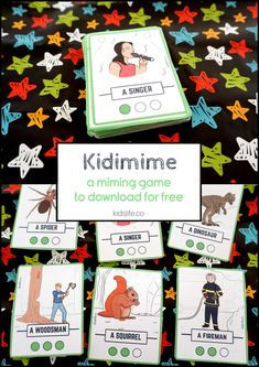 Kidi'mime – A free printable miming game Games For Kids, Activities For Kids, Crafts For Kids, Make Your Own, Make It Yourself, Activity Games, Kids Cards, Card Games, Free Printables