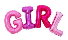 GIRL Lettering Giant Mylar Foil Balloons Baby Shower Birthday Party Decorations #Joyparty #BabyShower