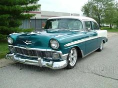 second year of the trinity boasts the 1956 Chevy Bel Air. This is my Dad's favorite! Chevrolet Bel Air, 1956 Chevy Bel Air, My Dream Car, Dream Cars, Bel Air Car, Vintage Cars, Antique Cars, Old American Cars, Cars Usa