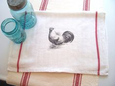 Rooster....Kitchen Towel by thegirlsmom on Etsy, $6.50