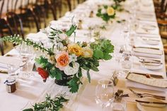 organic centerpieces - photo by Lara Hotz http://ruffledblog.com/romantic-australian-wedding-in-a-library