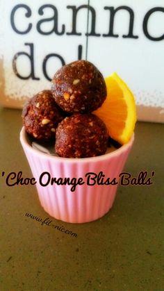 Choc orange bliss balls