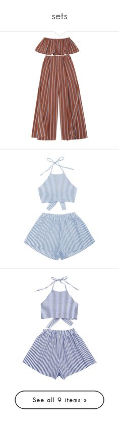 """""""sets"""" by harthkai on Polyvore featuring zaful, suits, swimwear, cover-ups, cover up swimwear, cover up beachwear, bandeau swimwear, 2 piece swimwear, beach cover up and striped cami"""