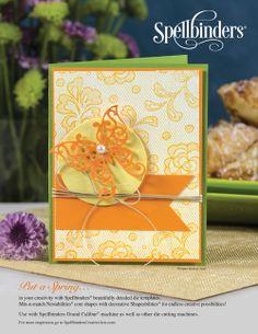Scrapbook  Cards Today - Spring 2014 - Spellbinders