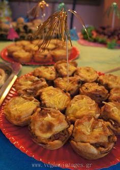 !Βίγκαν Συνταγές!: Ιδέες για παιδικό πάρτυ - Birthday Party for little vegans! Vegan Life, Sprouts, Appetizers, Vegetables, Breakfast, Party, Food, Morning Coffee, Appetizer
