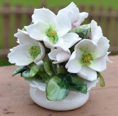 Antique Staffordshire Crown Bone China Flowers by Sisters3boutique, $8.99