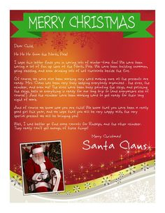 "FREE Letters from Santa.  Choose your design & personalized message.  Also choice of a ""magical package"" with personalized envelopes, a Nice List Certificate & an autographed photo of Santa Claus for a small fee."