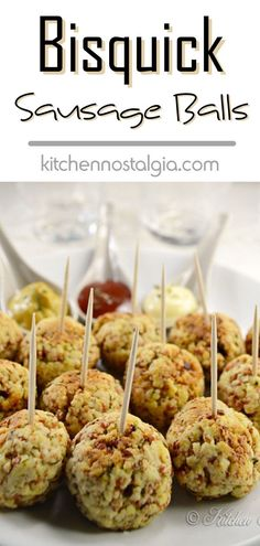 Bisquick Sausage Balls are one of those recipes that invoke nostalgic memories. They make a great party appetizer, holiday breakfast or kids snack. Best Appetizer Recipes, Spicy Recipes, Appetizers For Party, Cooking Recipes, Savory Snacks, Healthy Snacks, Sausage Balls, Breakfast Recipes, Breakfast Ideas