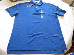Mens Tommy Hilfiger Polo shirt XL xlg xlarge solid NEW 7848707 Trecnh Co 458 blu #TommyHilfiger #polo