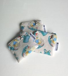 Coin Purse, Fabric Purse, Peter Rabbit Purse, Zipped Purse, Cream Purse